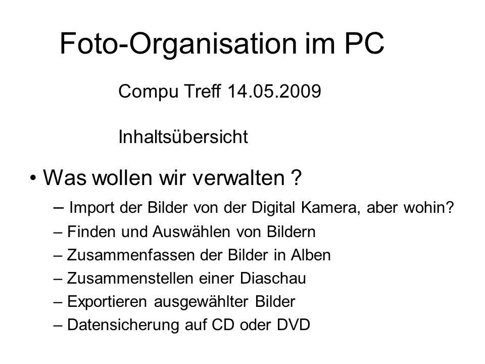 Foto-Organisation im PC