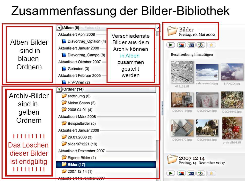 Zusammenfassung der Bilder-Bibliothek