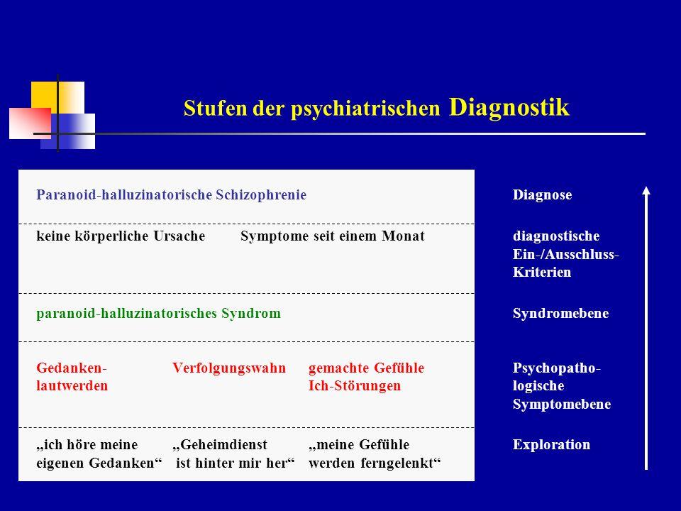 Stufen der psychiatrischen Diagnostik