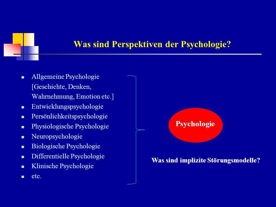 Was sind Perspektiven der Psychologie