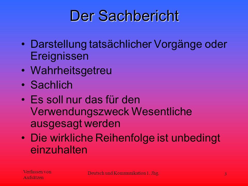 Deutsch und Kommunikation 1. Jhg.