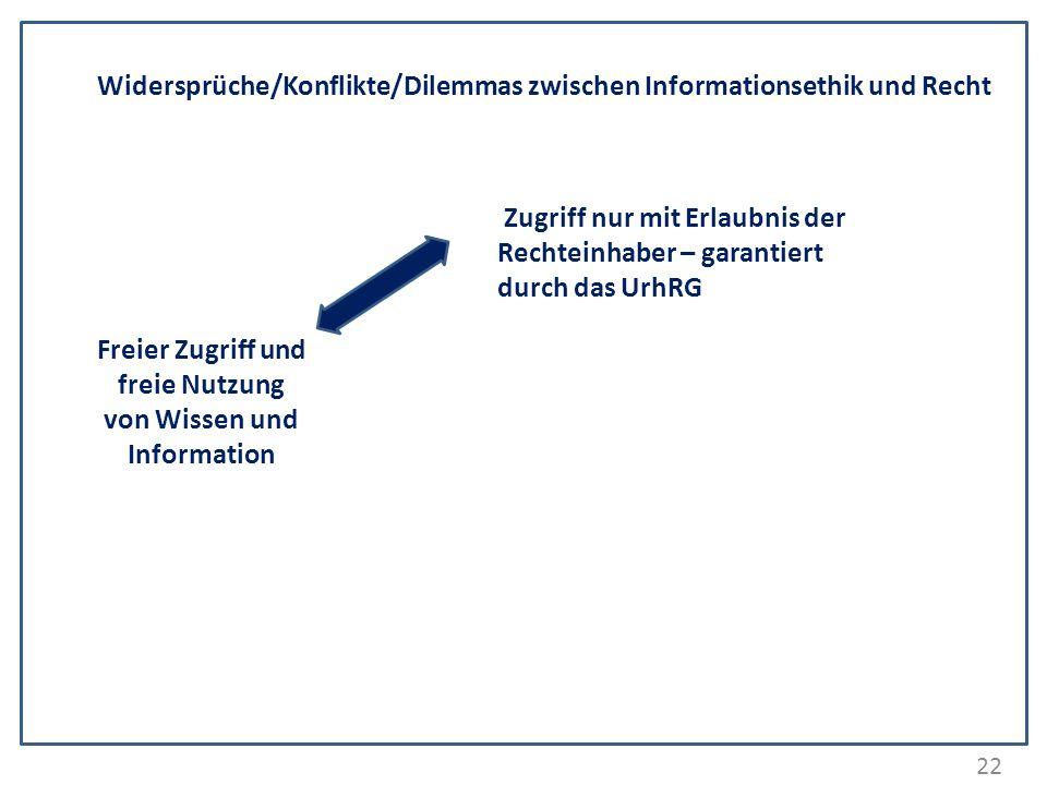 Freier Zugriff und freie Nutzung von Wissen und Information