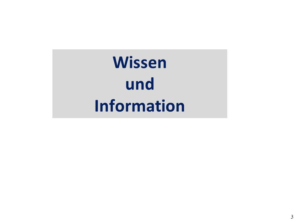 Wissen und Information
