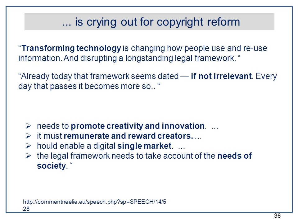 ... is crying out for copyright reform
