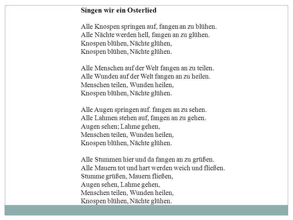 Singen wir ein Osterlied