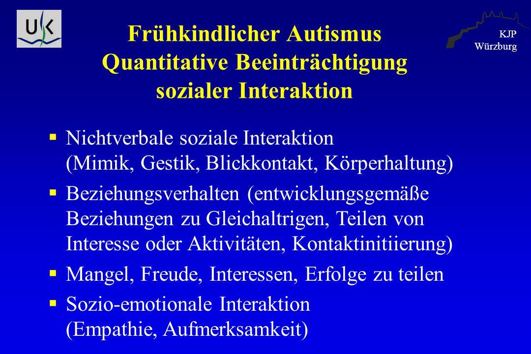 Frühkindlicher Autismus Quantitative Beeinträchtigung sozialer Interaktion