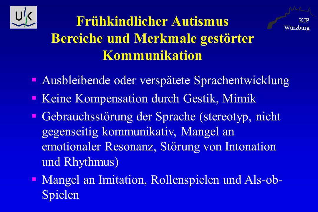 Frühkindlicher Autismus Bereiche und Merkmale gestörter Kommunikation