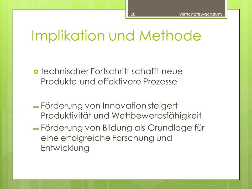 Implikation und Methode