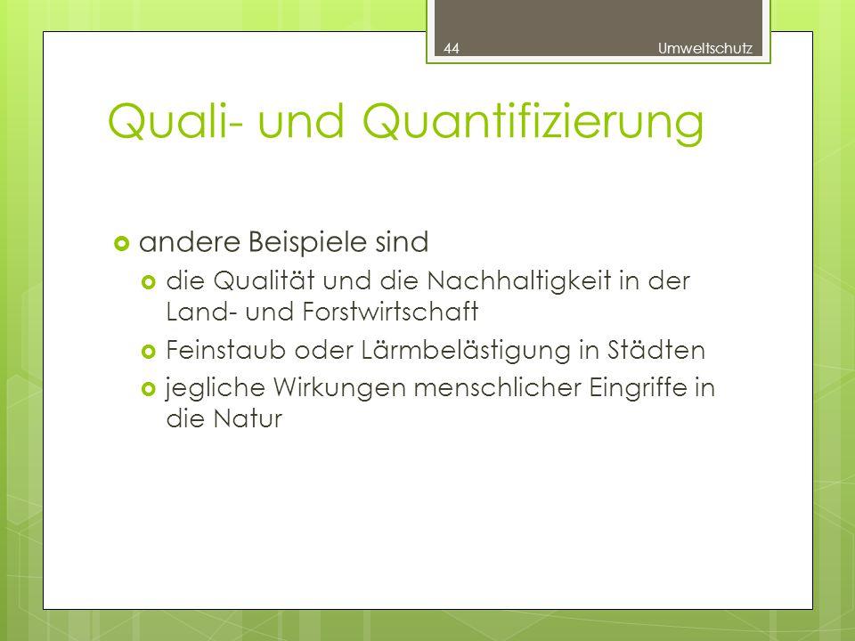 Quali- und Quantifizierung