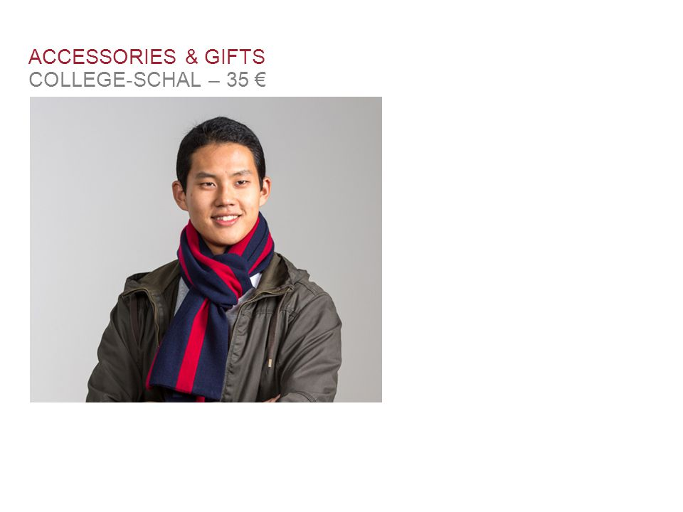 ACCESSORIES & GIFTS COLLEGE-SCHAL – 35 €