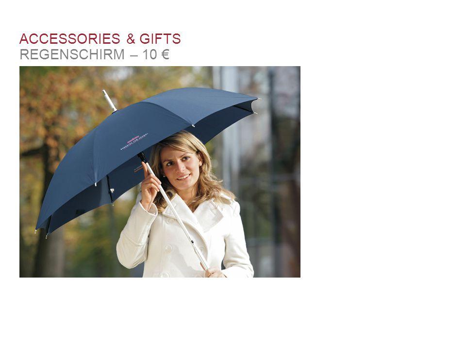 ACCESSORIES & GIFTS REGENSCHIRM – 10 € Schlüsselband 3 €