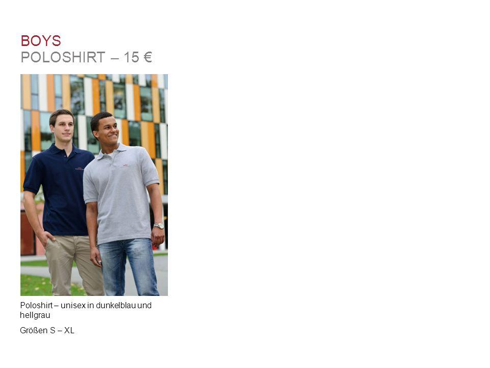 BOYS POLOSHIRT – 15 € Poloshirt – unisex in dunkelblau und hellgrau