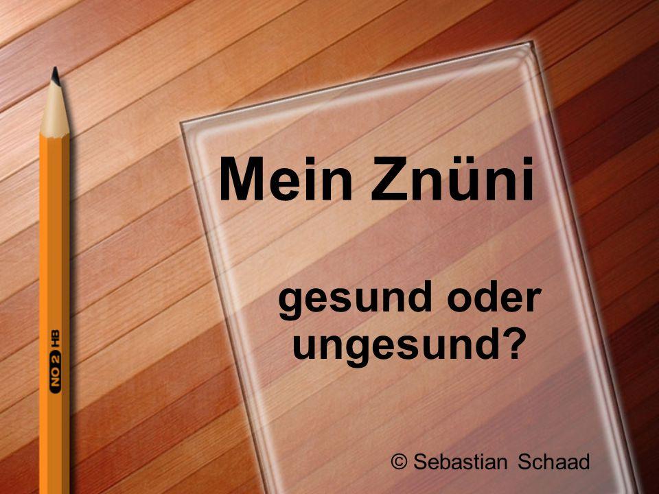 Mein Znüni gesund oder ungesund © Sebastian Schaad