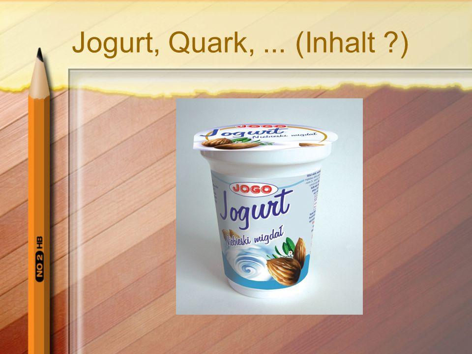 Jogurt, Quark, ... (Inhalt )