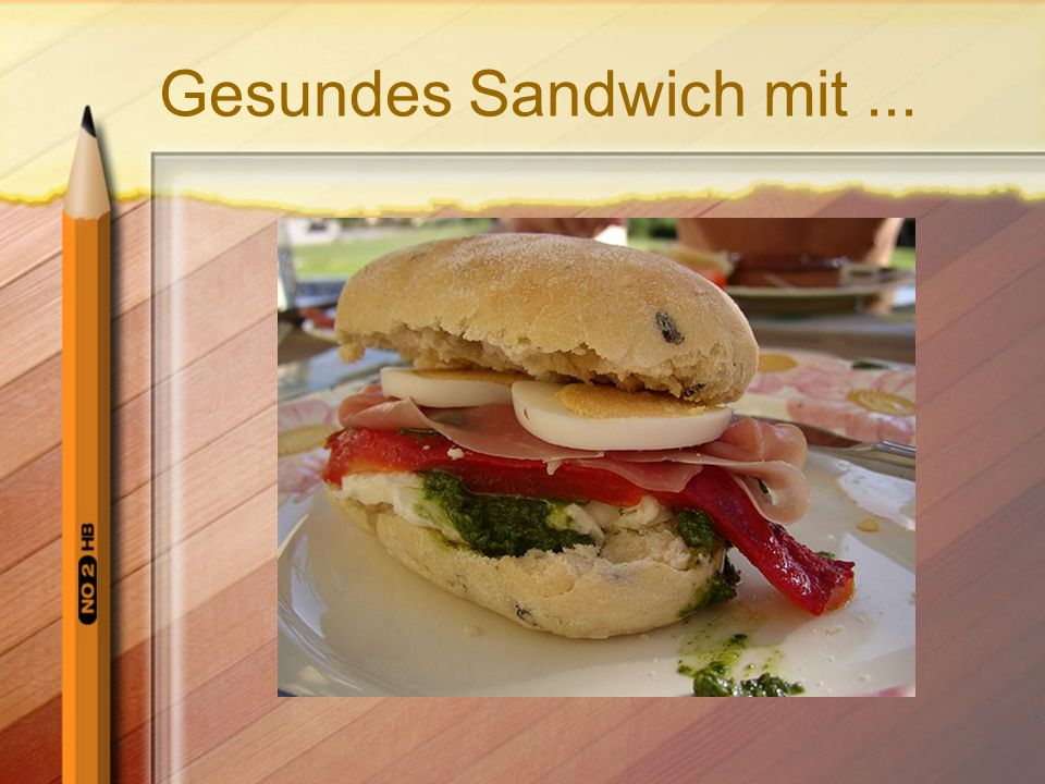 Gesundes Sandwich mit ...