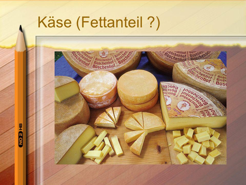 Käse (Fettanteil )