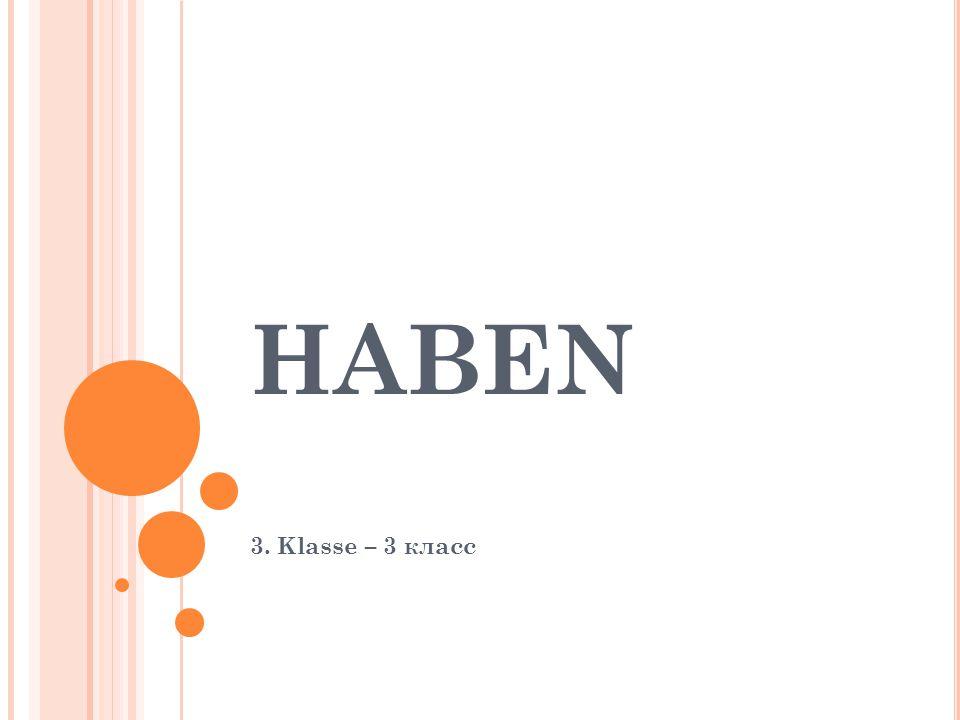 HABEN 3. Klasse – 3 класс