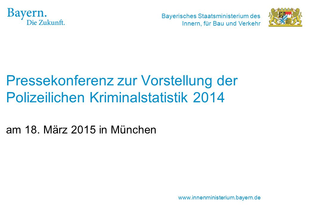 Pressekonferenz zur Vorstellung der Polizeilichen Kriminalstatistik 2014