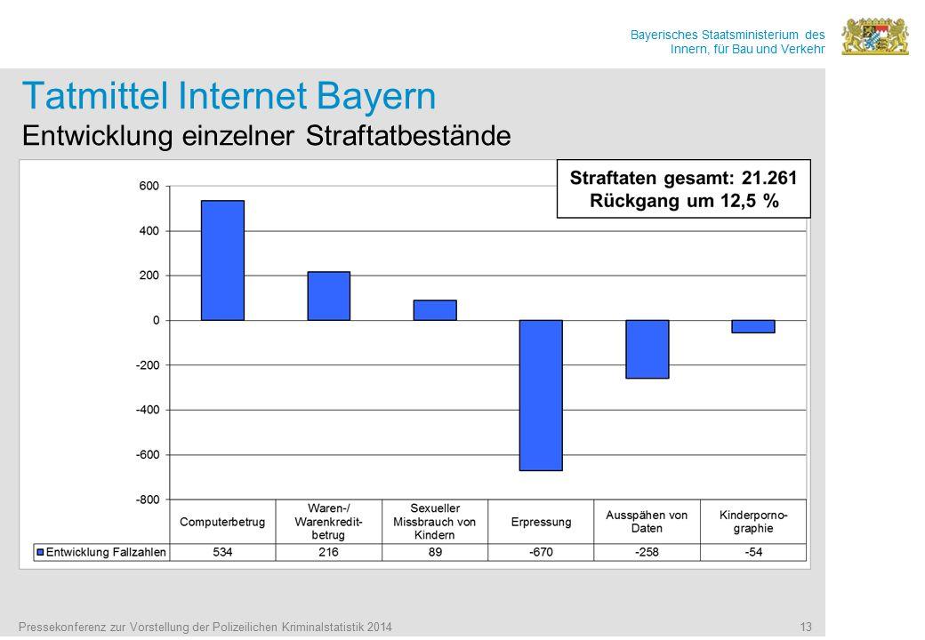 Tatmittel Internet Bayern Entwicklung einzelner Straftatbestände