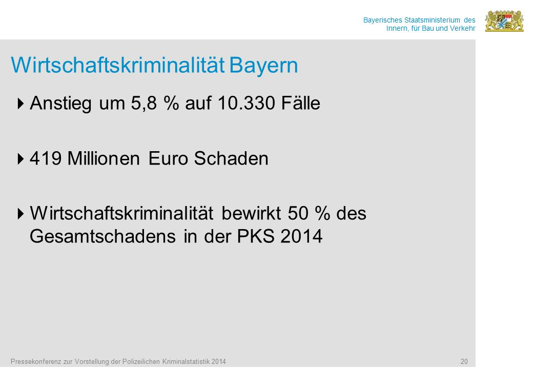 Wirtschaftskriminalität Bayern