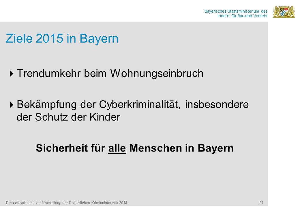 Sicherheit für alle Menschen in Bayern