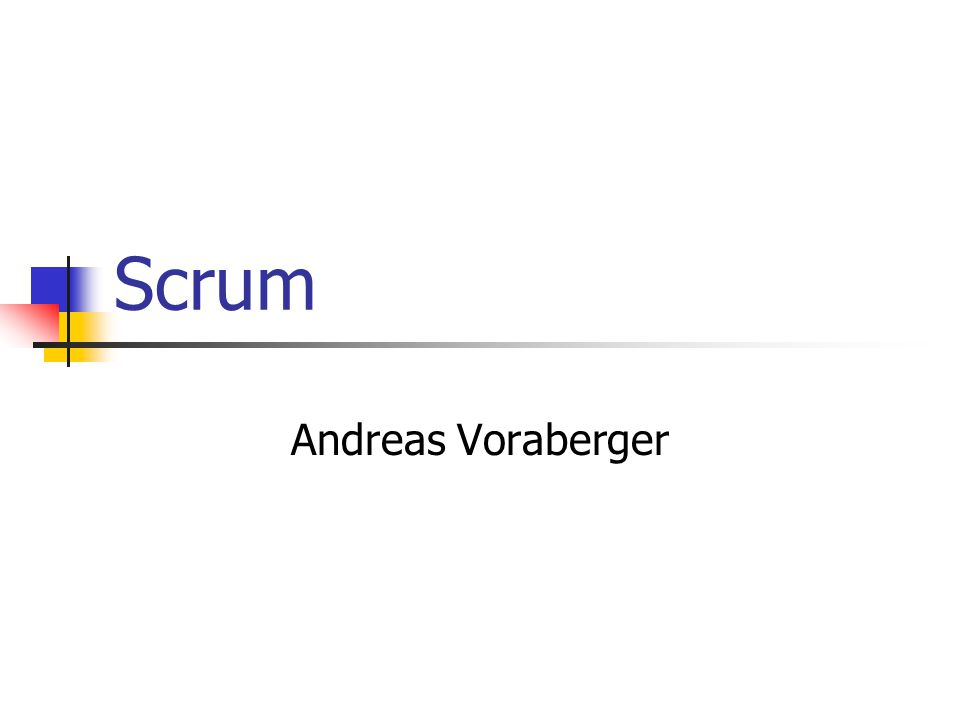 Scrum Andreas Voraberger