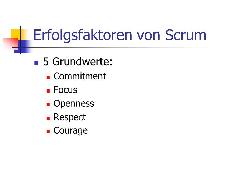 Erfolgsfaktoren von Scrum
