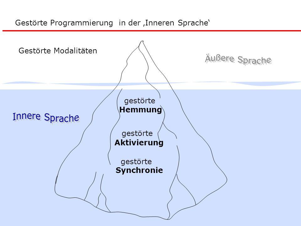 Gestörte Programmierung in der 'Inneren Sprache'