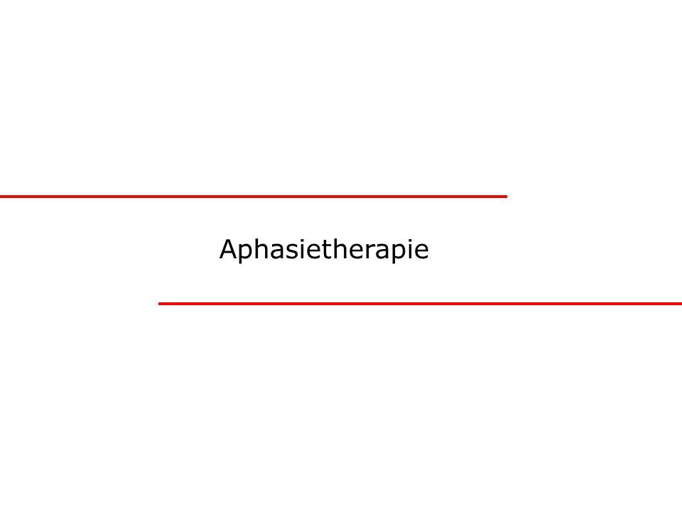 Aphasietherapie