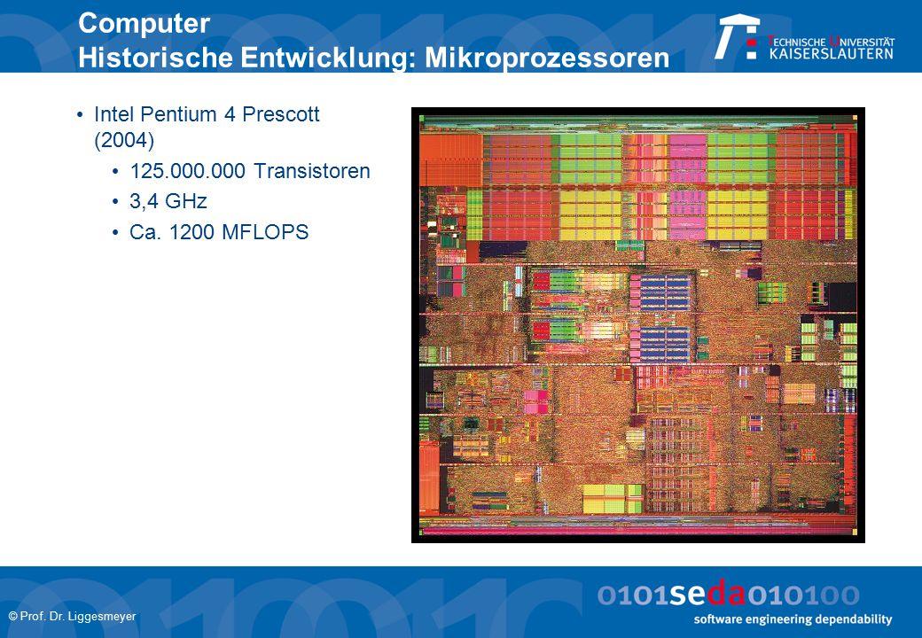 Computer Historische Entwicklung: Mikroprozessoren