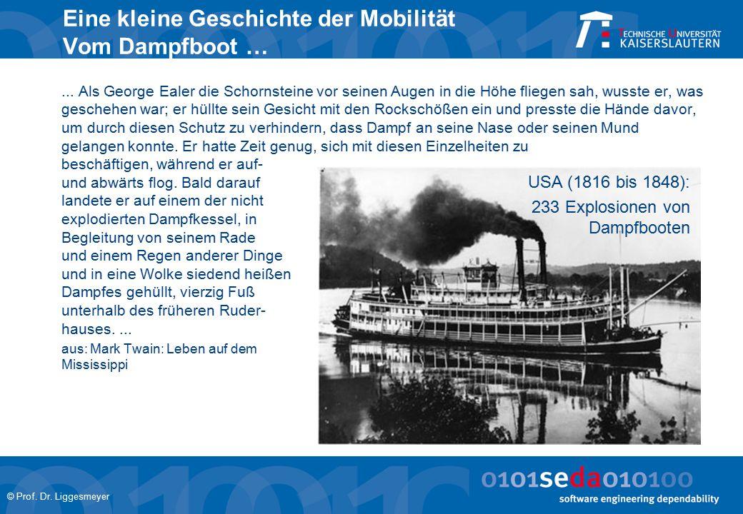 Eine kleine Geschichte der Mobilität Vom Dampfboot …