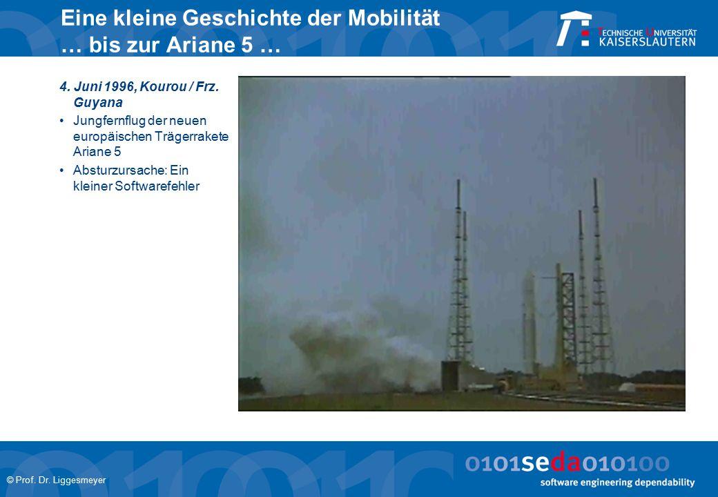 Eine kleine Geschichte der Mobilität … bis zur Ariane 5 …