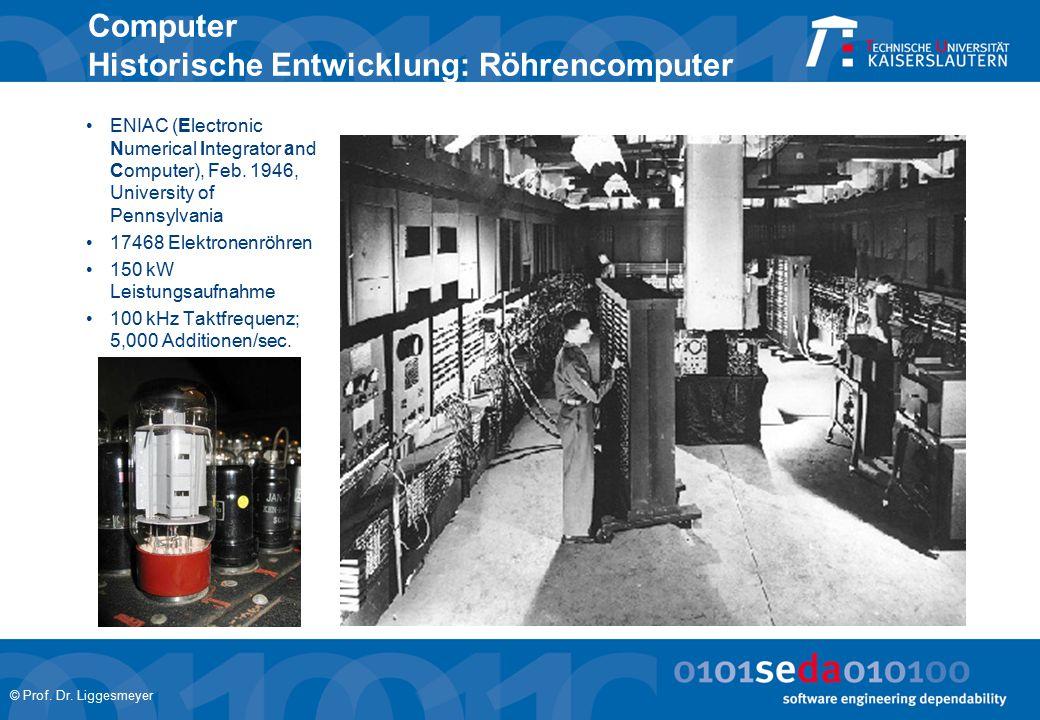 Computer Historische Entwicklung: Röhrencomputer