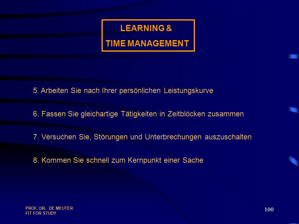 LEARNING & TIME MANAGEMENT