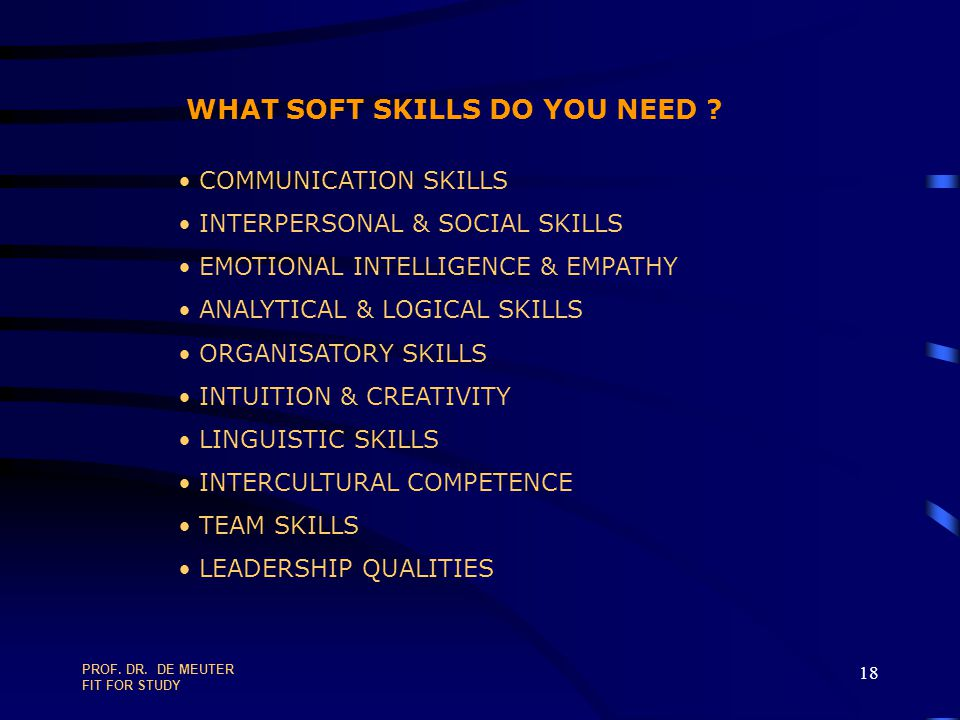 WHAT SOFT SKILLS DO YOU NEED