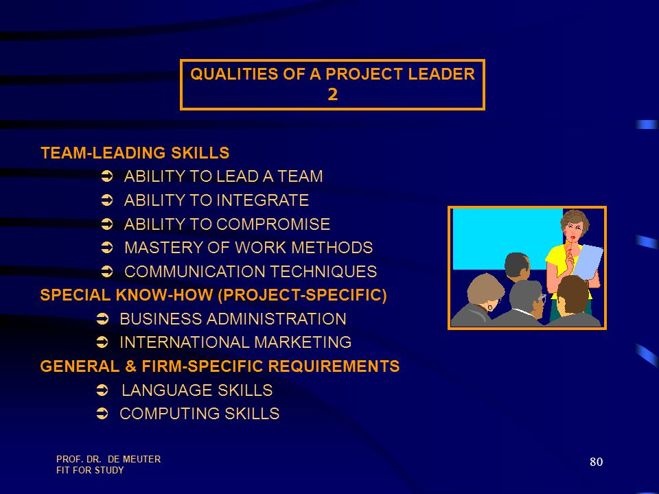 QUALITIES OF A PROJECT LEADER
