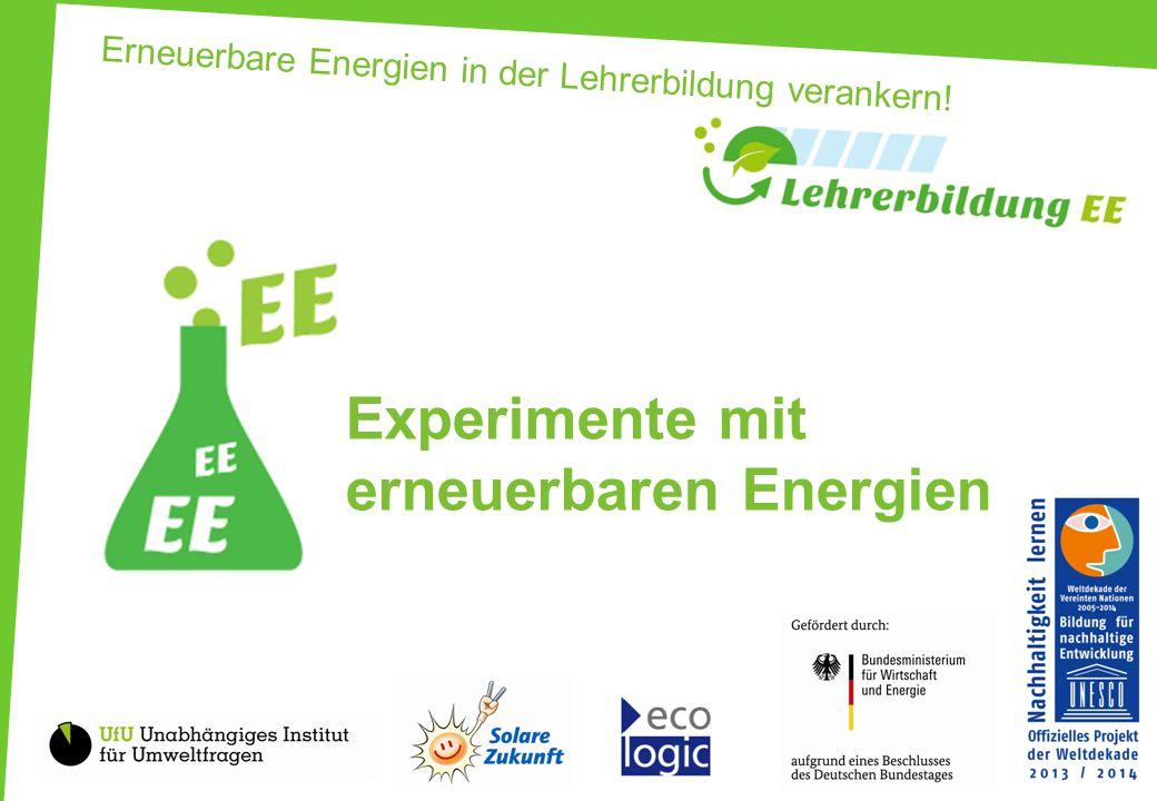 Erneuerbare Energien in der Lehrerbildung verankern!