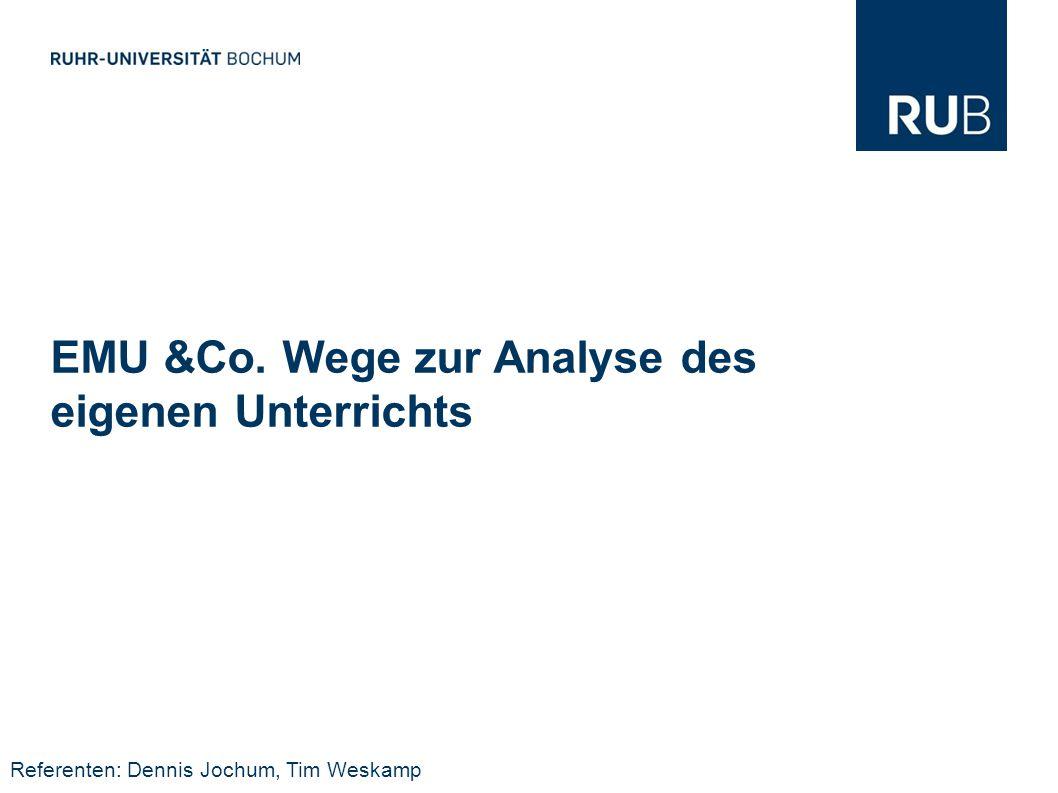 EMU &Co. Wege zur Analyse des eigenen Unterrichts