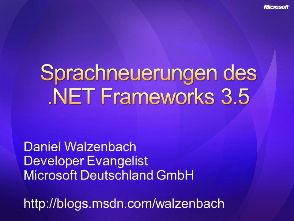 Sprachneuerungen des .NET Frameworks 3.5