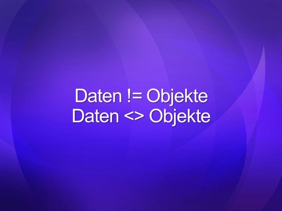 Daten <> Objekte