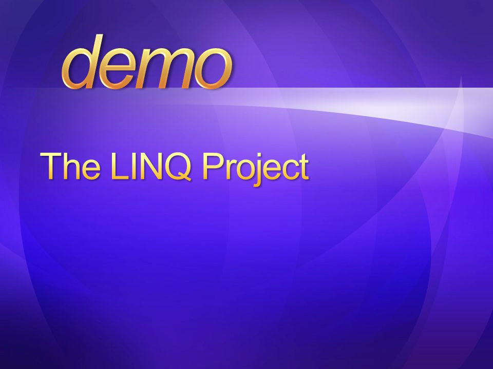 demo The LINQ Project 4/9/2017 1:52 PM