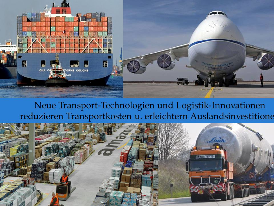 Neue Transport-Technologien und Logistik-Innovationen