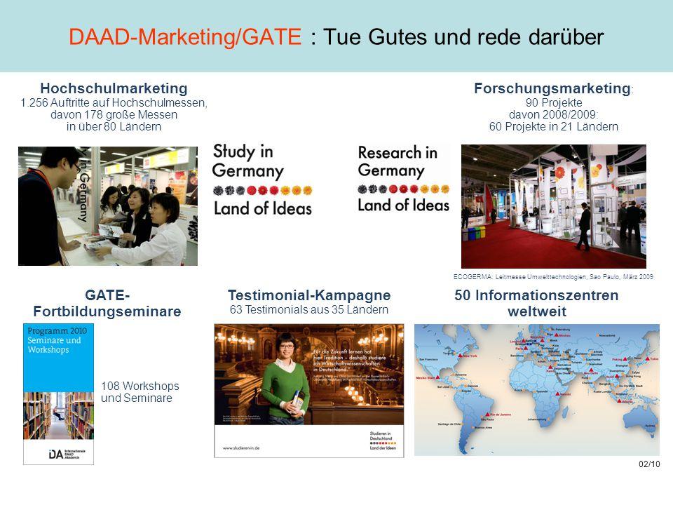 DAAD-Marketing/GATE : Tue Gutes und rede darüber