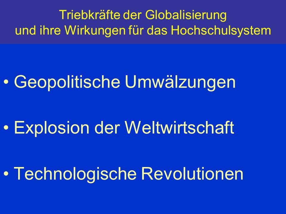 Geopolitische Umwälzungen Explosion der Weltwirtschaft