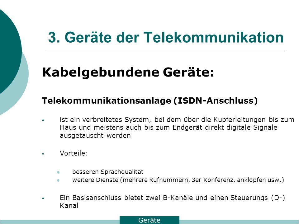 3. Geräte der Telekommunikation