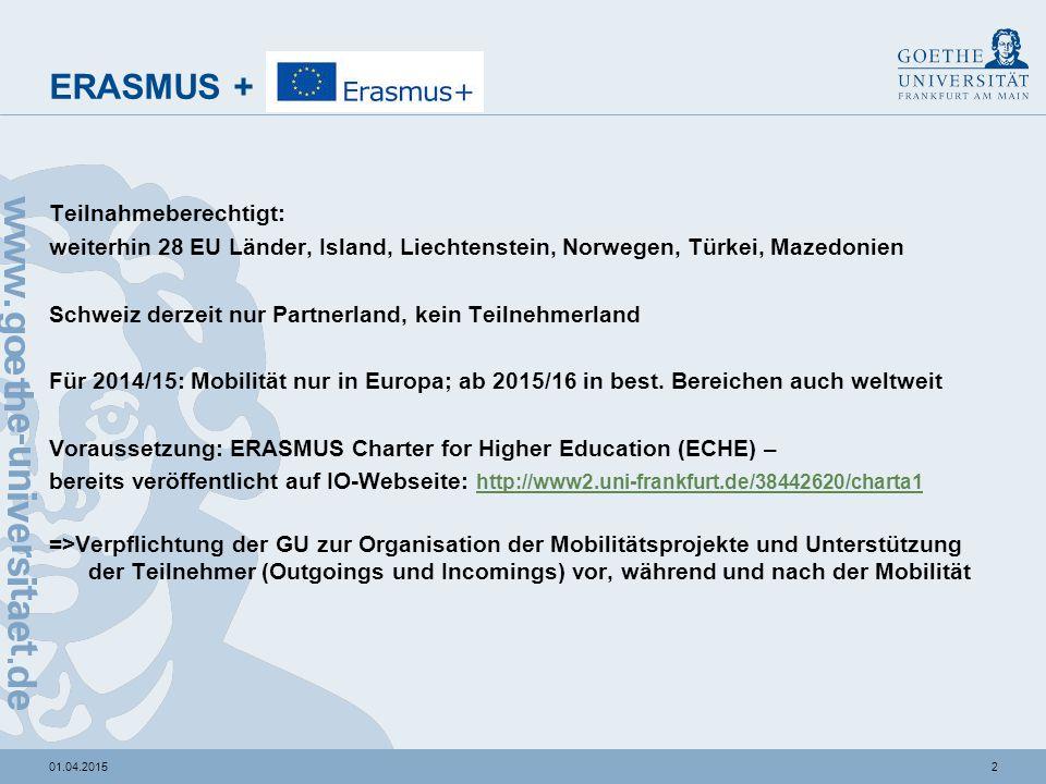 ERASMUS+ Mobilität / Partnerschaften