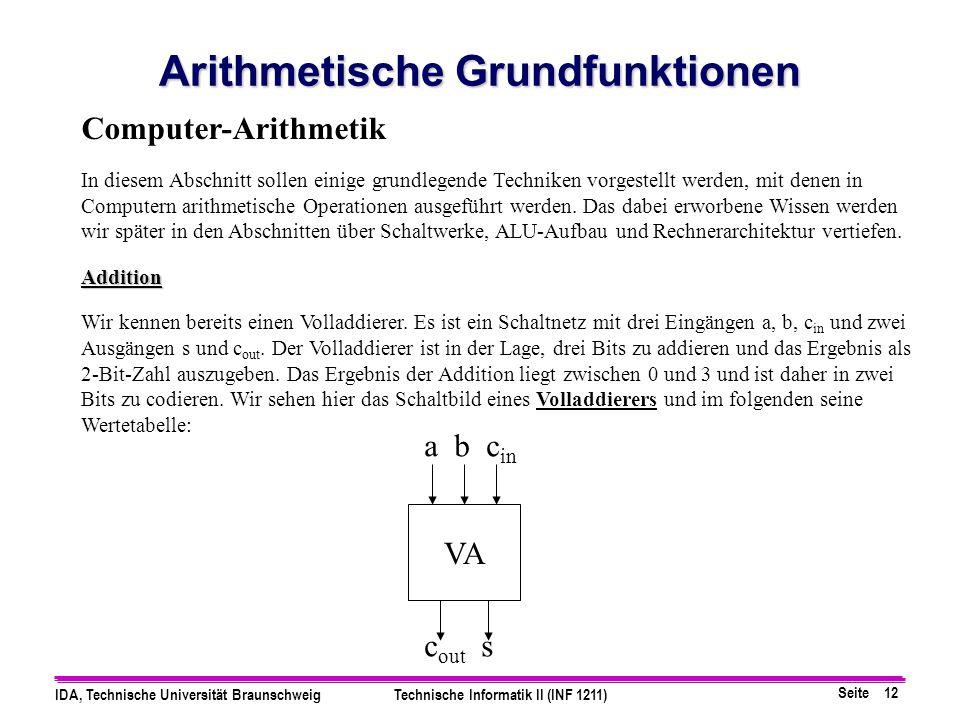 Arithmetische Grundfunktionen