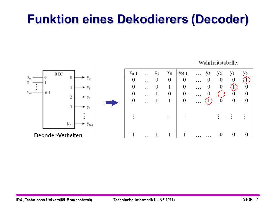 Funktion eines Dekodierers (Decoder)