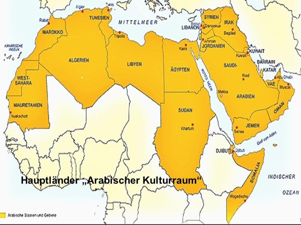 """Hauptländer """"Arabischer Kulturraum"""