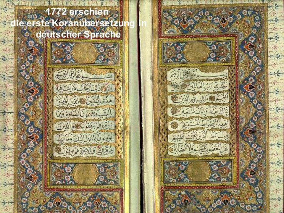 die erste Koranübersetzung in